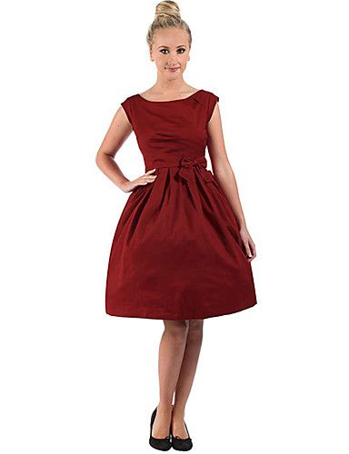 Women's Going out / Casual/Daily Vintage / Cute A Line Dress,Solid Round Neck Knee-length Sleeveless 5142609 2016 – $22.99