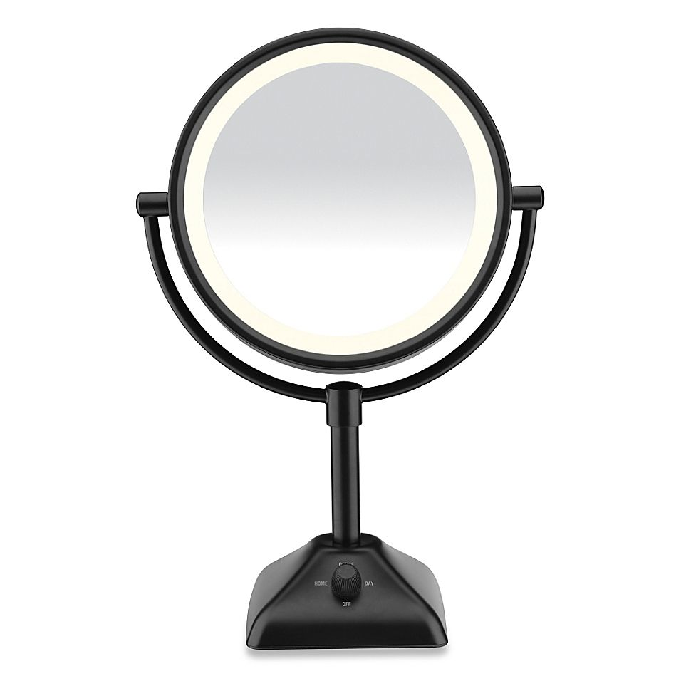 Conair Variable Lighted 1x 10x Mirror In Black Makeup Mirror