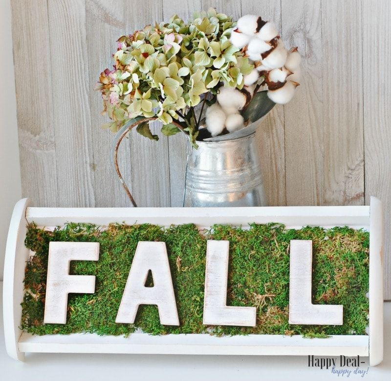 Thrift Store Makeover - CD Holder Repurposed Into Fall Decor | Happy Deal - Happy Day!