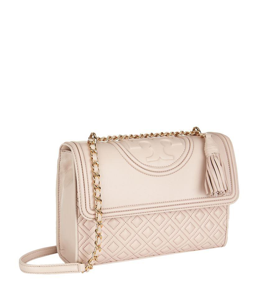 cba019115ba7 Tory Burch Fleming Medium Convertible Shoulder Bag Bedrock Pink