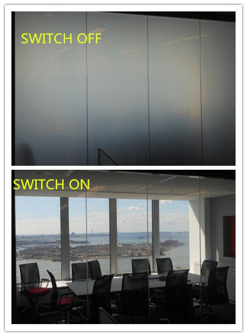 Smart Film Provides Privacy When You Want And Need It Without Darkening The Room That You Re In Cu Big Windows Living Room Architecture Bathroom Smart Glass