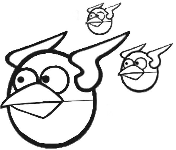 Angry Birds Coloring Pages Bomb Bird