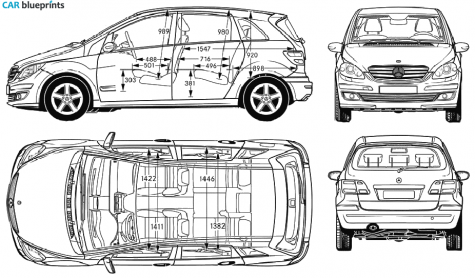 2006 Mercedes-Benz B-class W245 Minivan blueprint