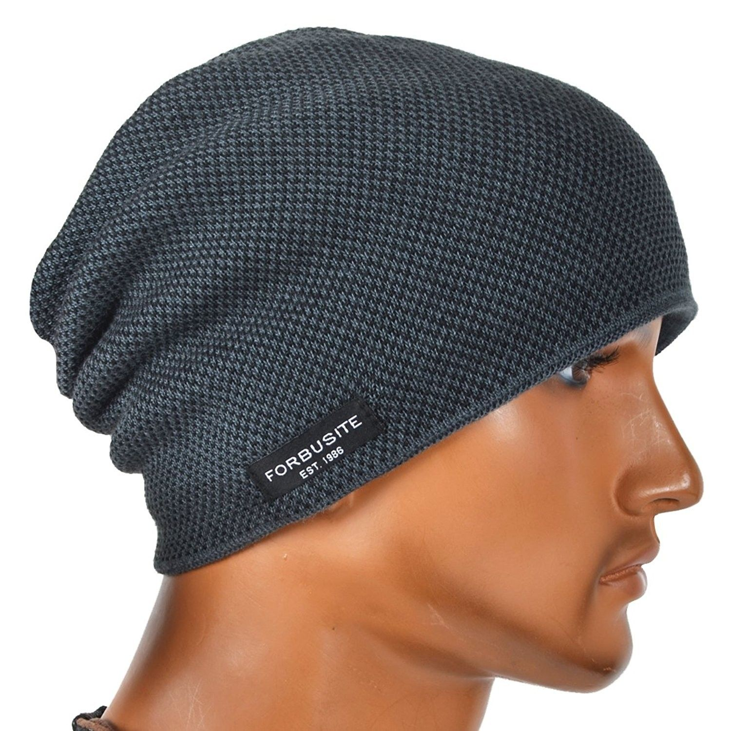 147bb93aca0 Mens Beanie Hat Fleece Lined Knit Hat Thick Skull Cap - Grey - CH187DGMGY0  - Hats   Caps