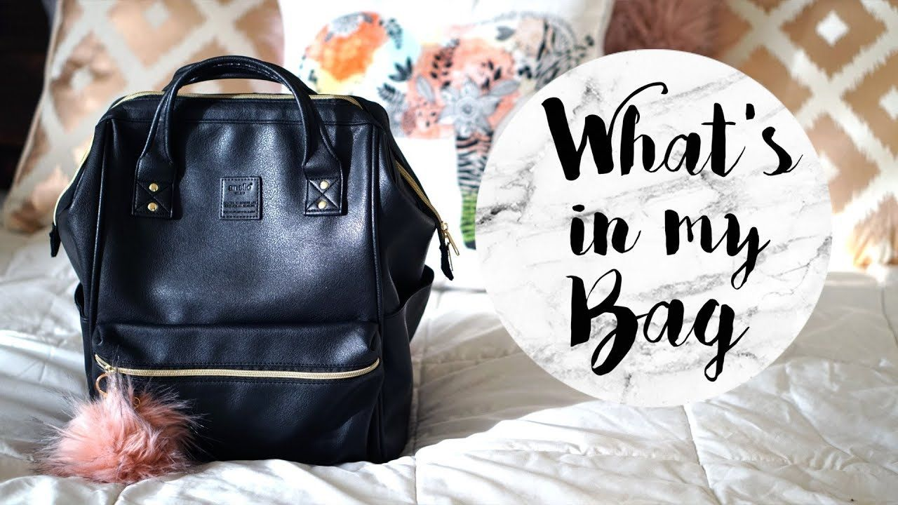 f7b6479717e2 What's in my College Bag 2018 | Anello Backpack - YouTube | College ...