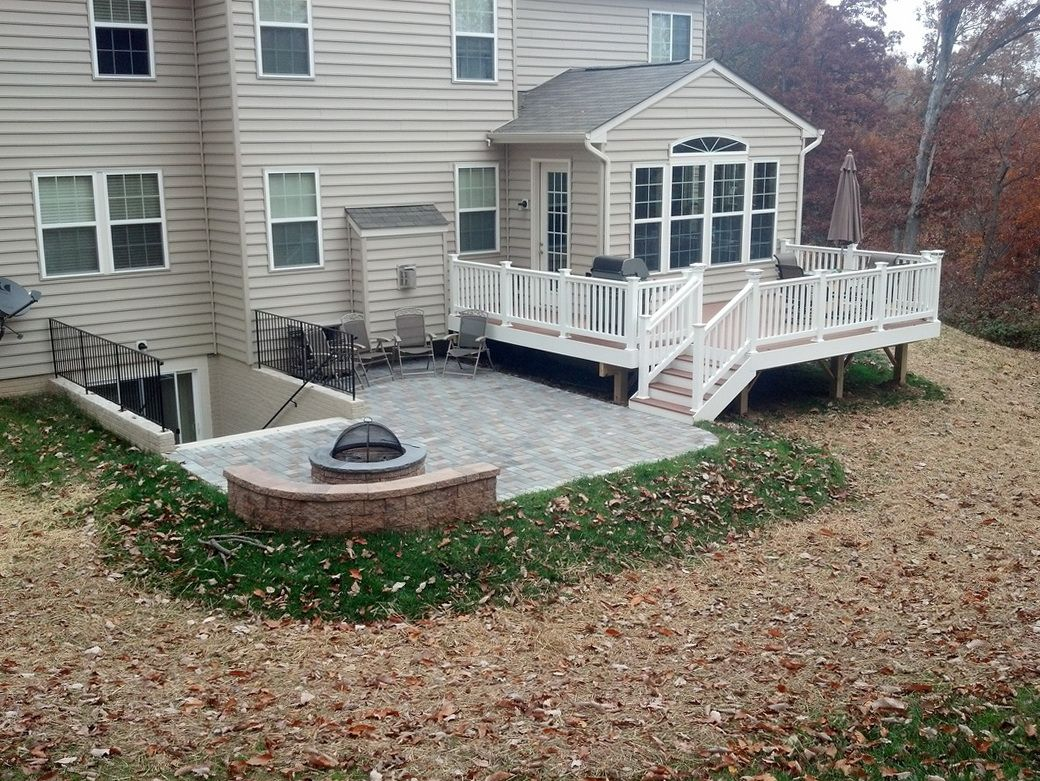 Deck And Patio Combination  Decked Out in 2019  Patio