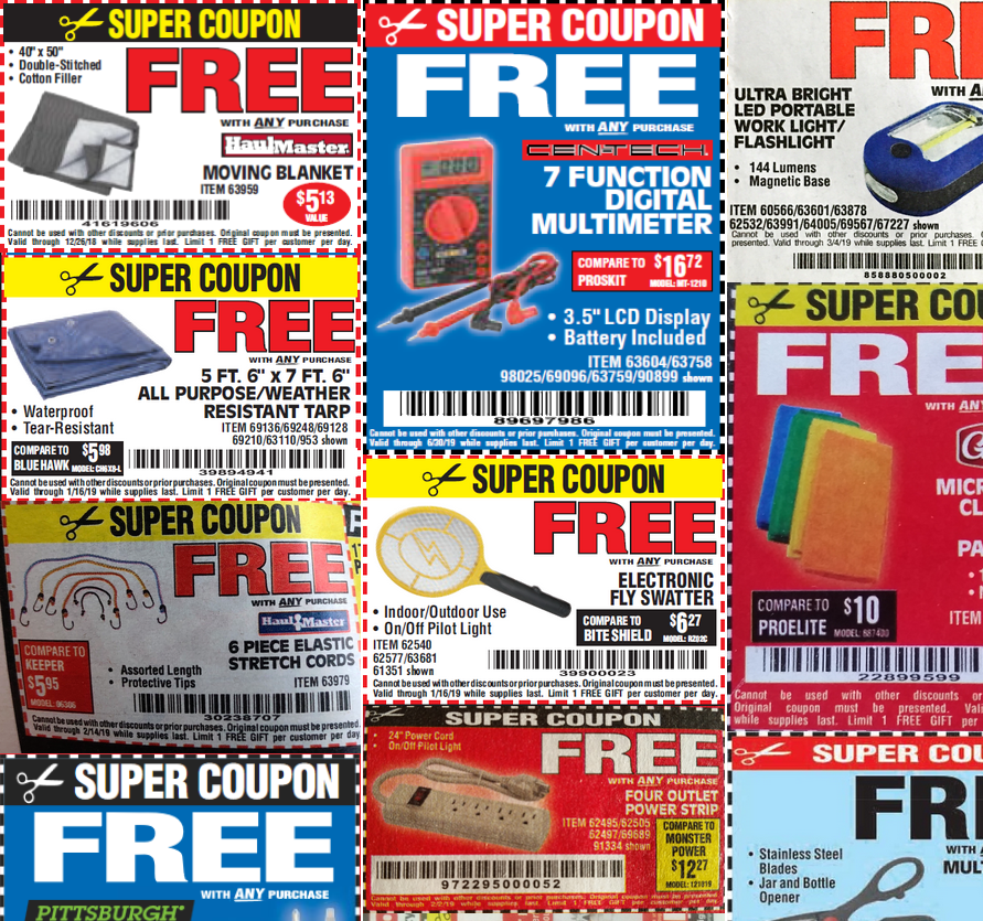 Harbor Freight Tools Coupon Database. The best Harbor
