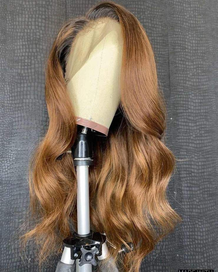 2020 的 1B/27 Ombre Color Lace Front Human Hair Wigs With