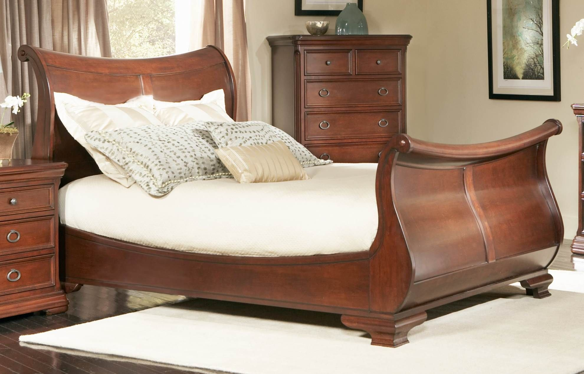A Sleigh Bed Frame Brings Comfort And Elegance To The Bedroom Our
