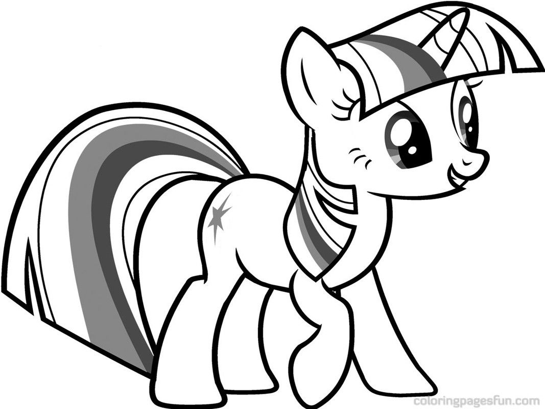 My little pony unicorn coloring pages - My Little Pony Twilight Sparkle Coloring Pages