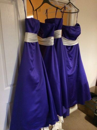 alexia bridesmaid dresses X4 with matching cravats & handkerchief For groomsman