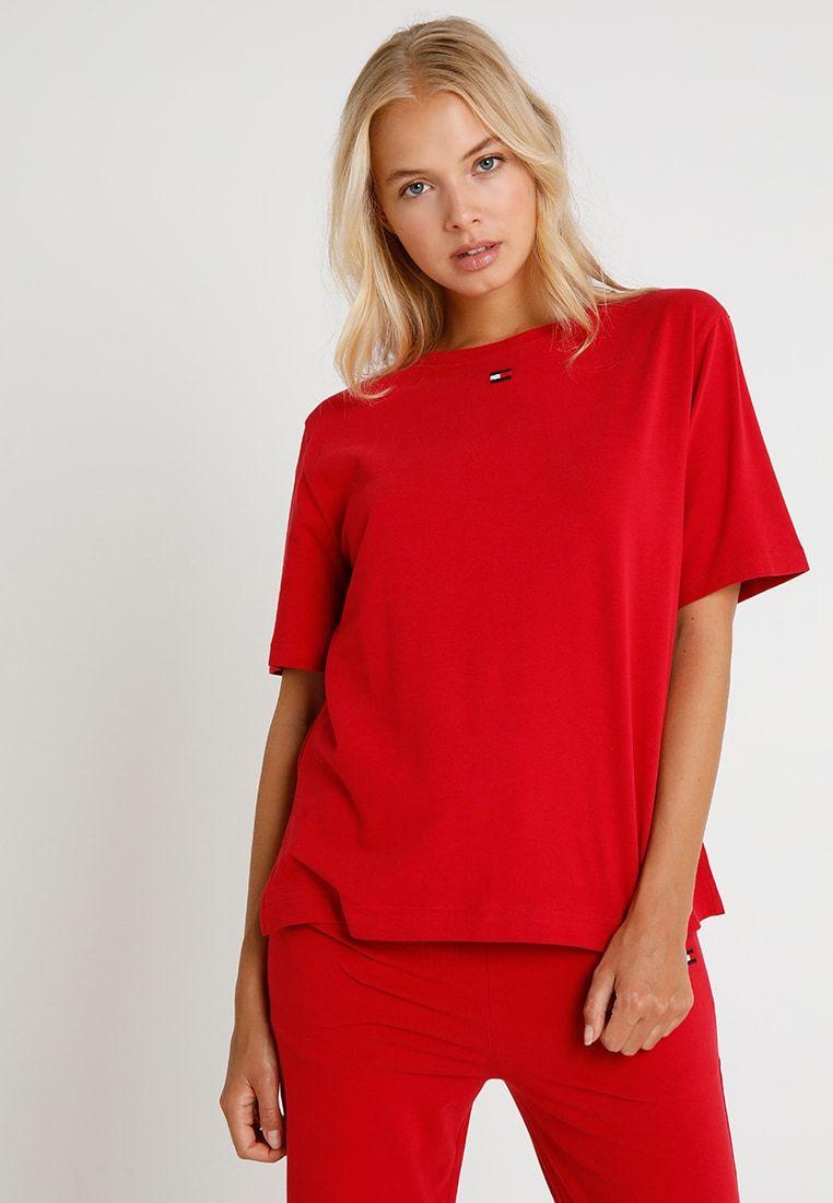 Tommy Hilfiger TEE HALF - Nachtwäsche Shirt - red - Zalando.de 655c51b100