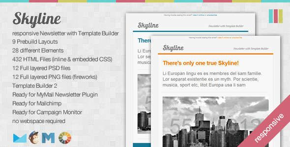 Absolute Best Responsive Email Templates Skyline Responsive - Free html email template builder