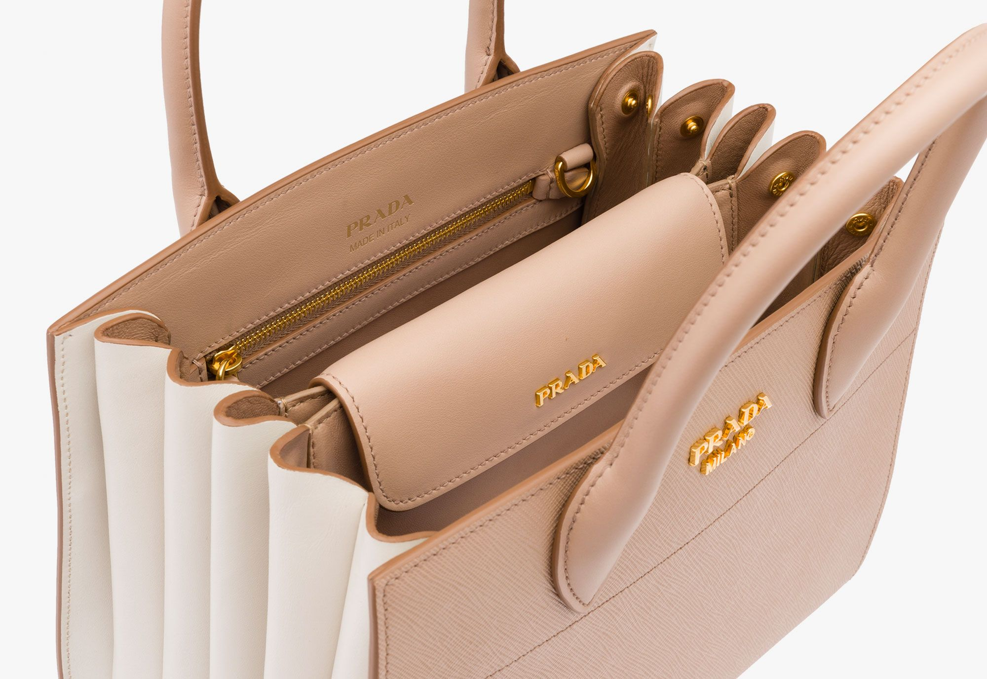 fa54d6ac97bd Prada Woman - Prada bibliothèque bag - Cammeo+talco -  1BA050 2EVU F0EXC V OOO Leather Bags