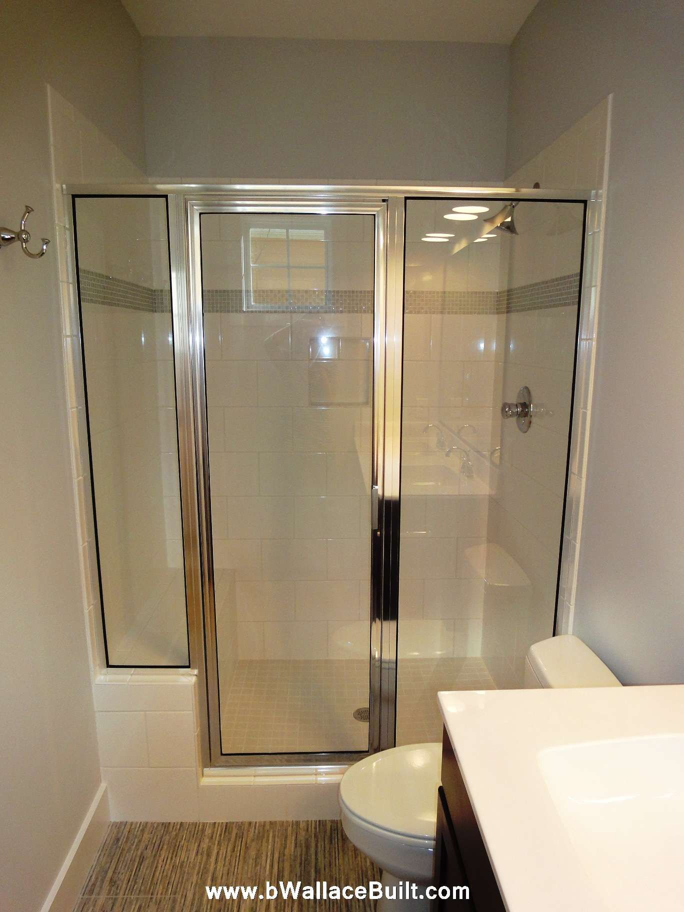 Master Bathroom Walk In Shower But With Frosted Glass Doors Instead Of Clear With Images Bathroom Redo Master Bathroom Bathrooms Remodel