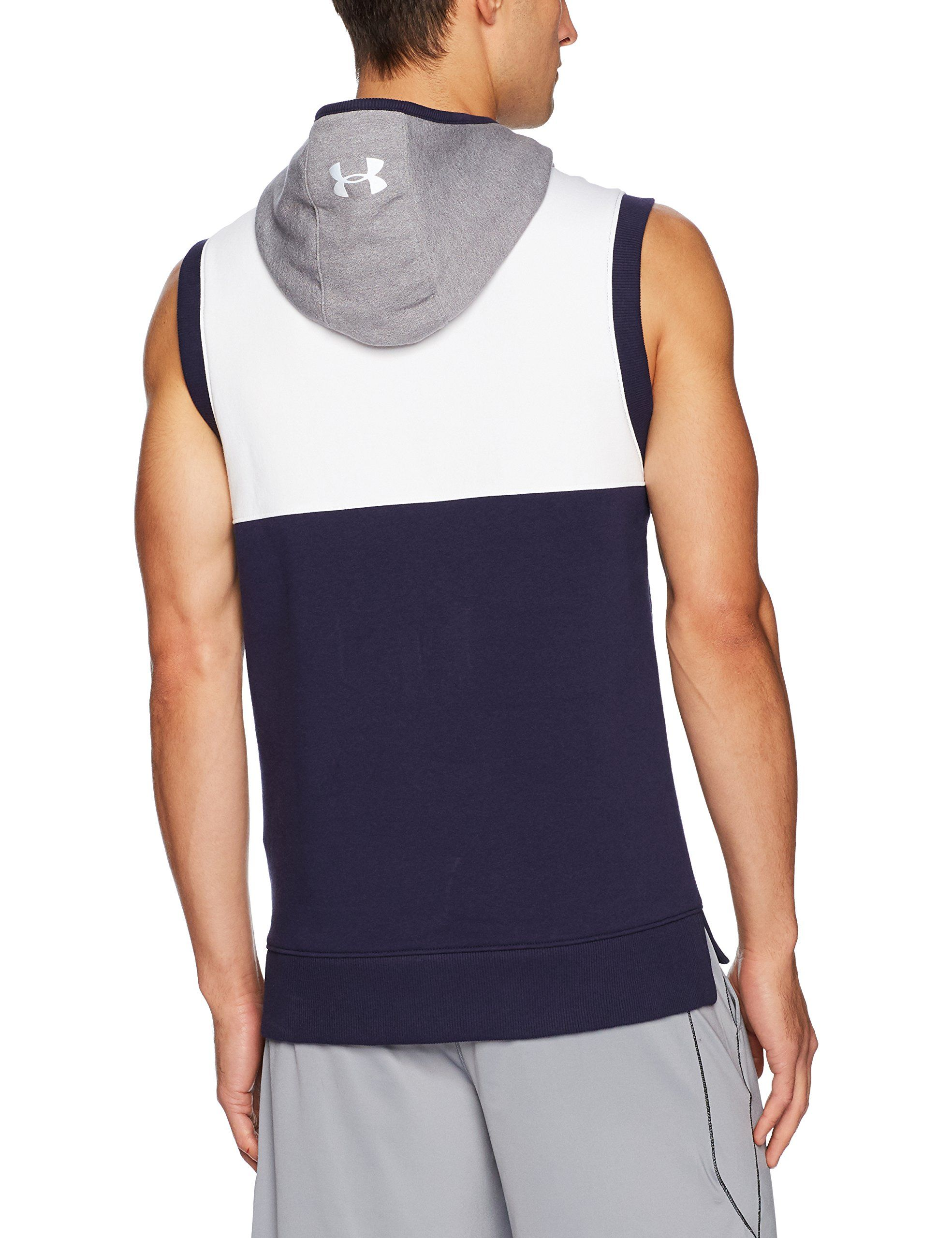 2086ffaa158e1b Under Armour Mens Threadborne Fleece Sleeveless Hoodie White Reflective  XLarge -- Check this awesome