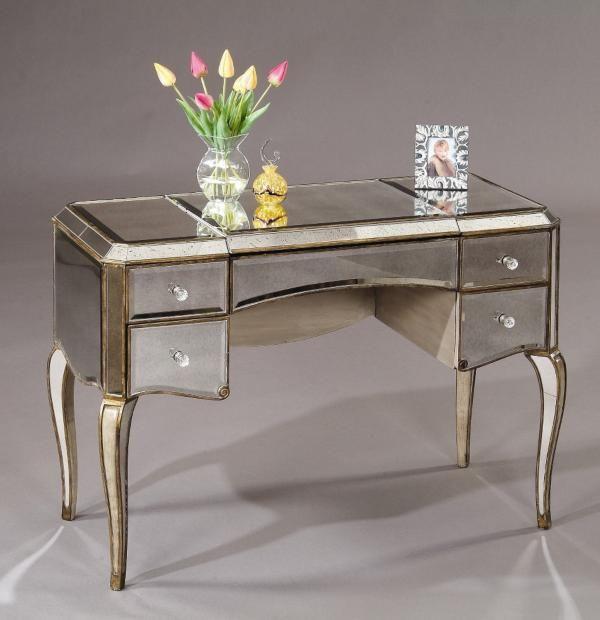 Colette Mirrored Vanity   Decoist