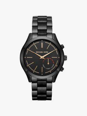 0365ba2d8de1 Michael Kors Access Slim Runway Black-Tone Hybrid Smartwatch ...