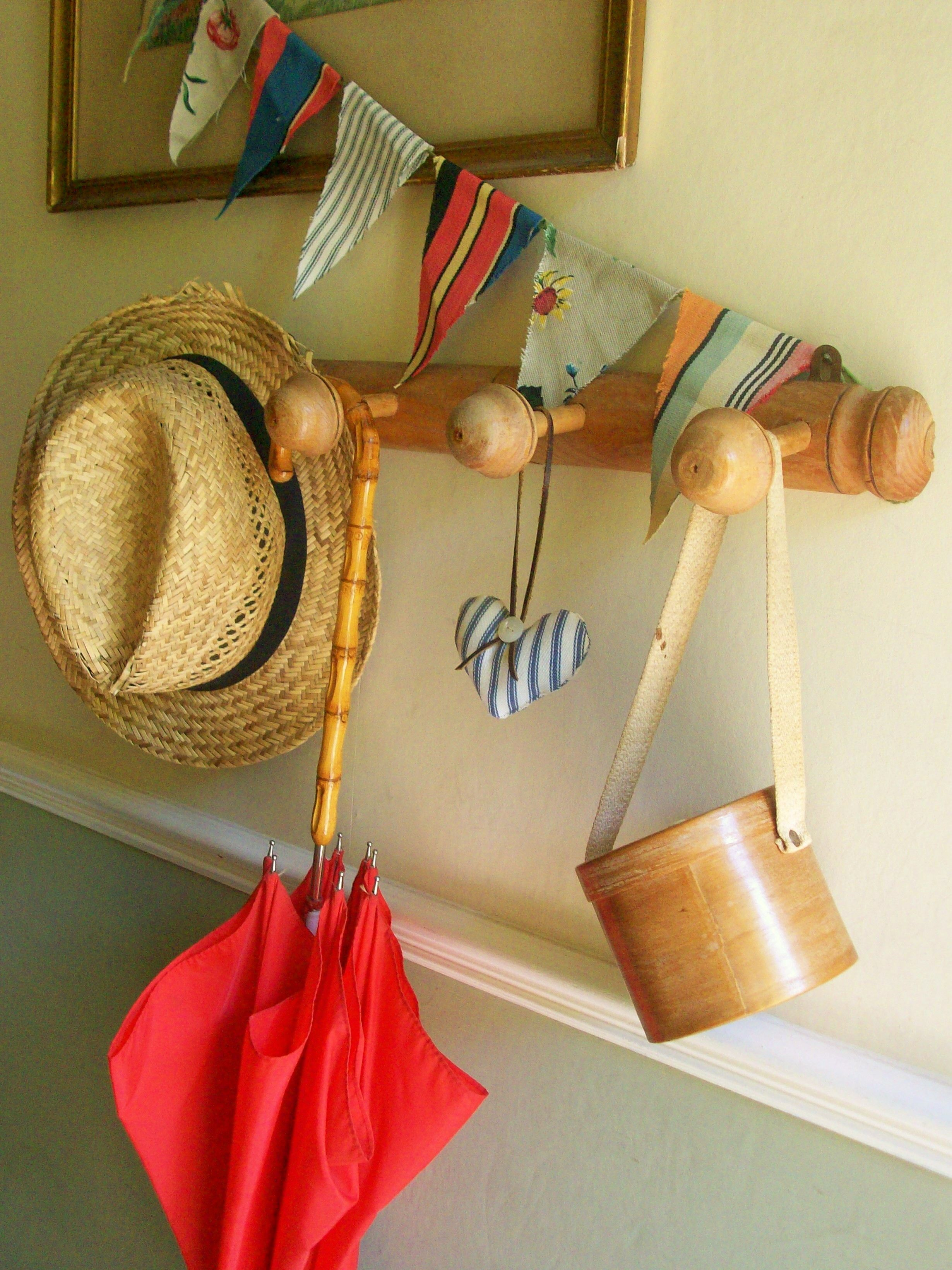 Vintage French wooden wall hooks from Lavender House Vintage ...