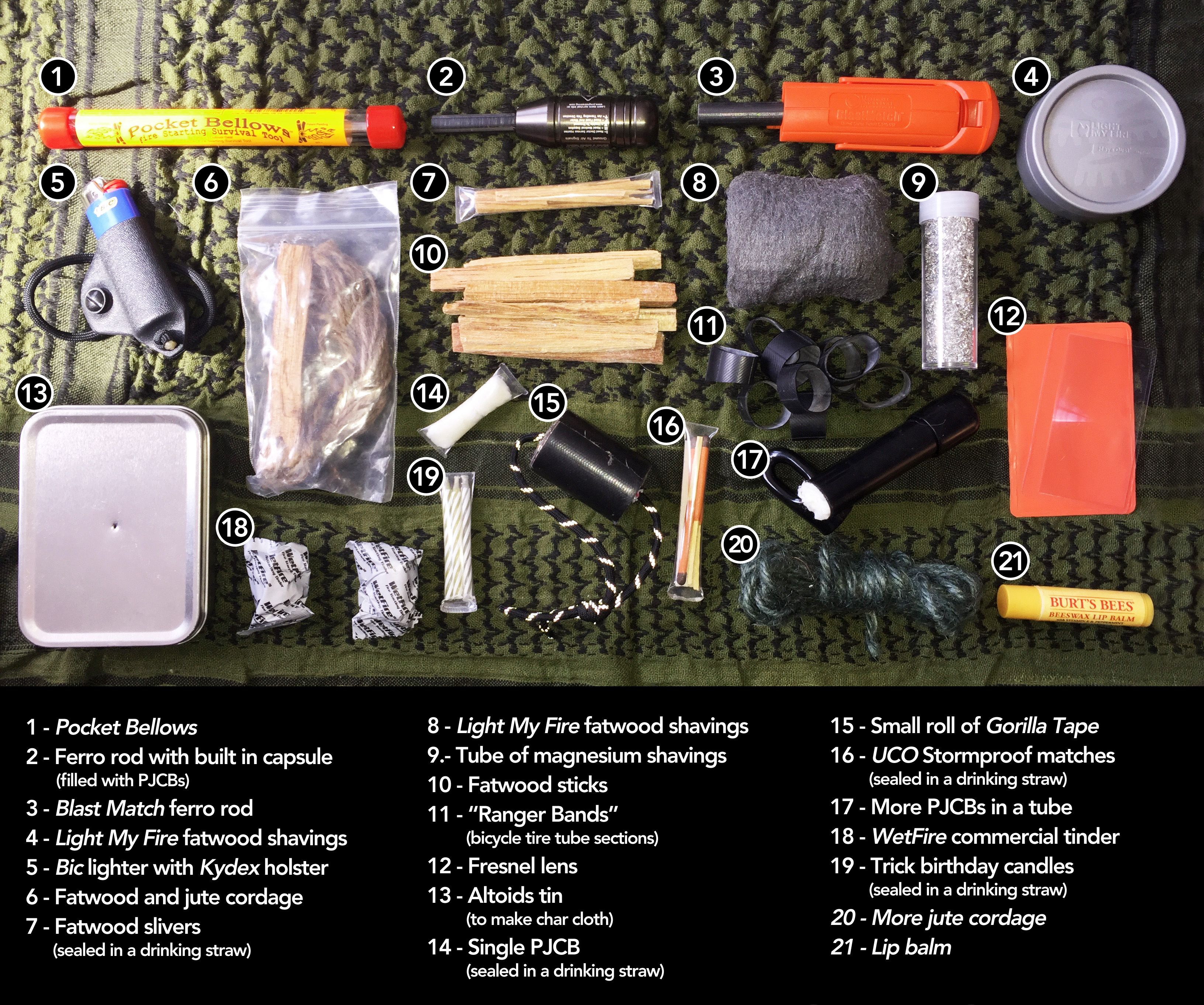 learn how to make a killer survival fire kit like this one today