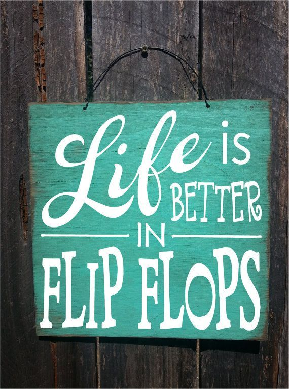 Beach Decor House Flip Flop Sign By Farmhousechicsigns