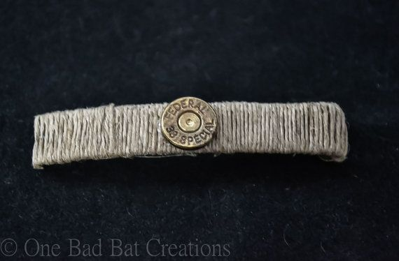Hair barrette Hemp  Bullet accessory Hair by OneBadBatCreations