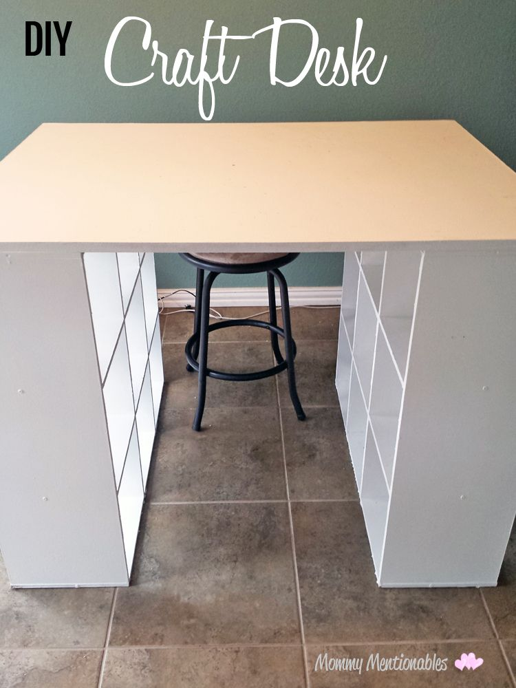 DIY Craft Table. How To Make a Craft Desk with Cubicles. #craftroomideas