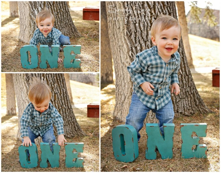 One year old rustic outdoor photoshoot Great spot for a little boy