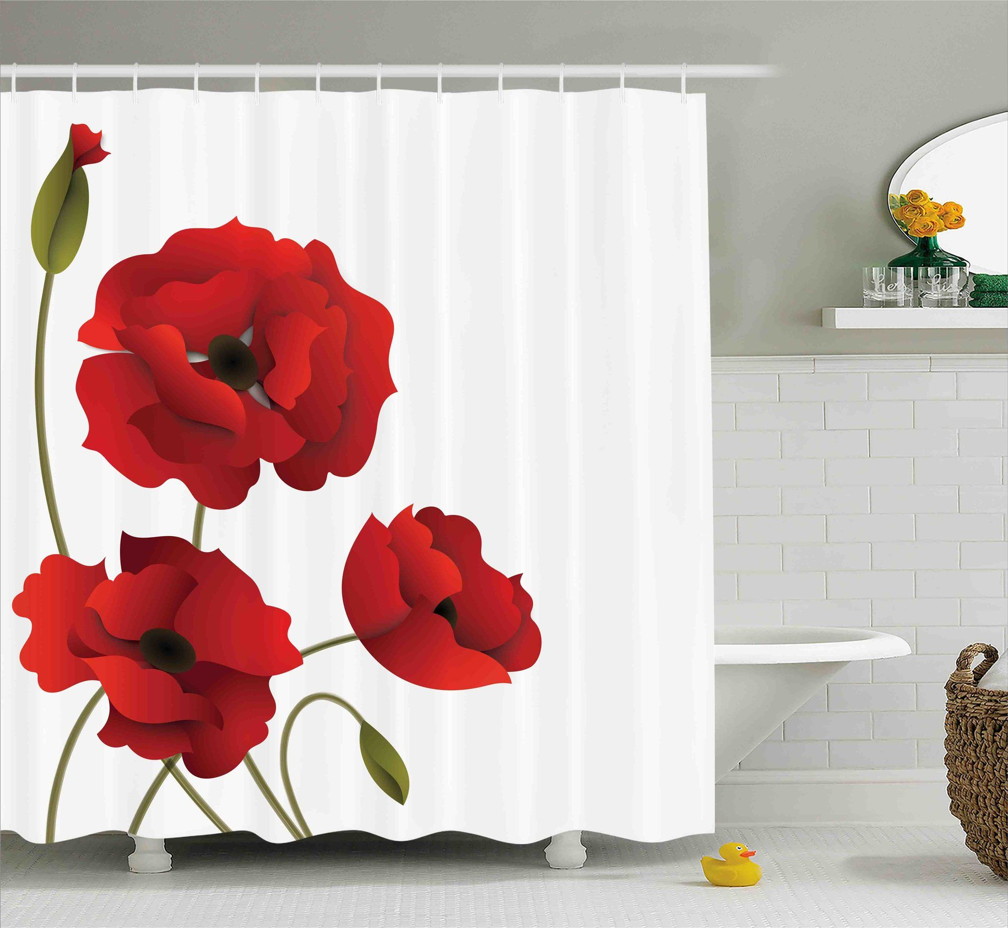 Banks flowers petals and buds shower curtain products pinterest