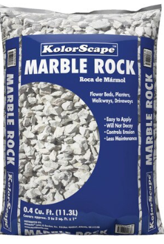 Kolor Scape 0 4 Cu Ft Gray Marble Chips Lowes Com In 2020 Grey Marble Marble Rock Scape