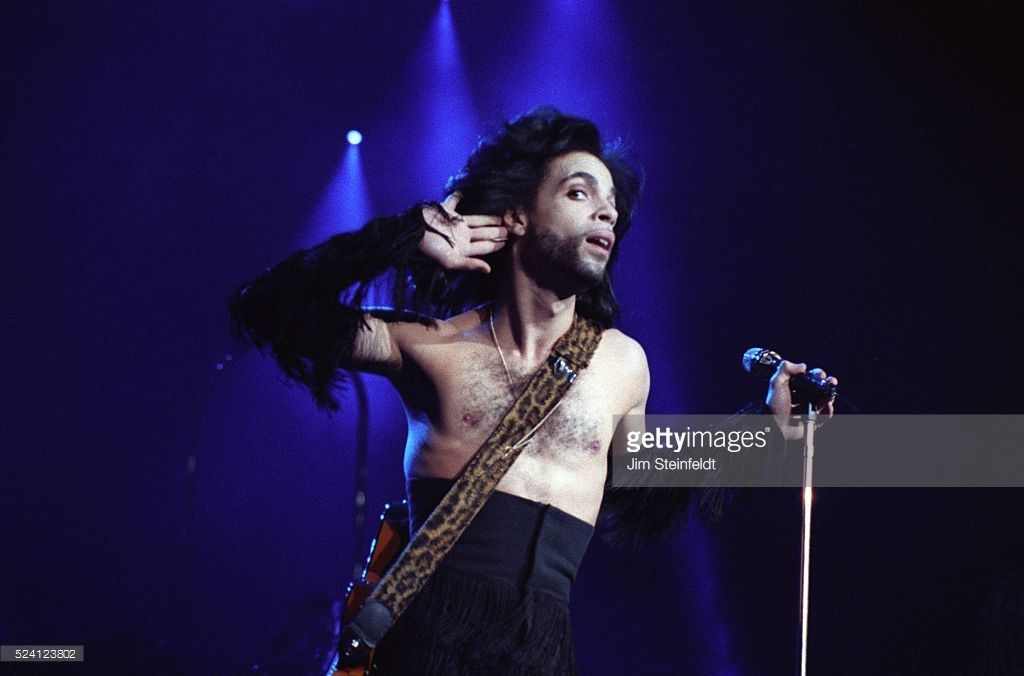 Prince performs during the Nude Tour at the St. Paul Civic Center News Photo - Getty Images