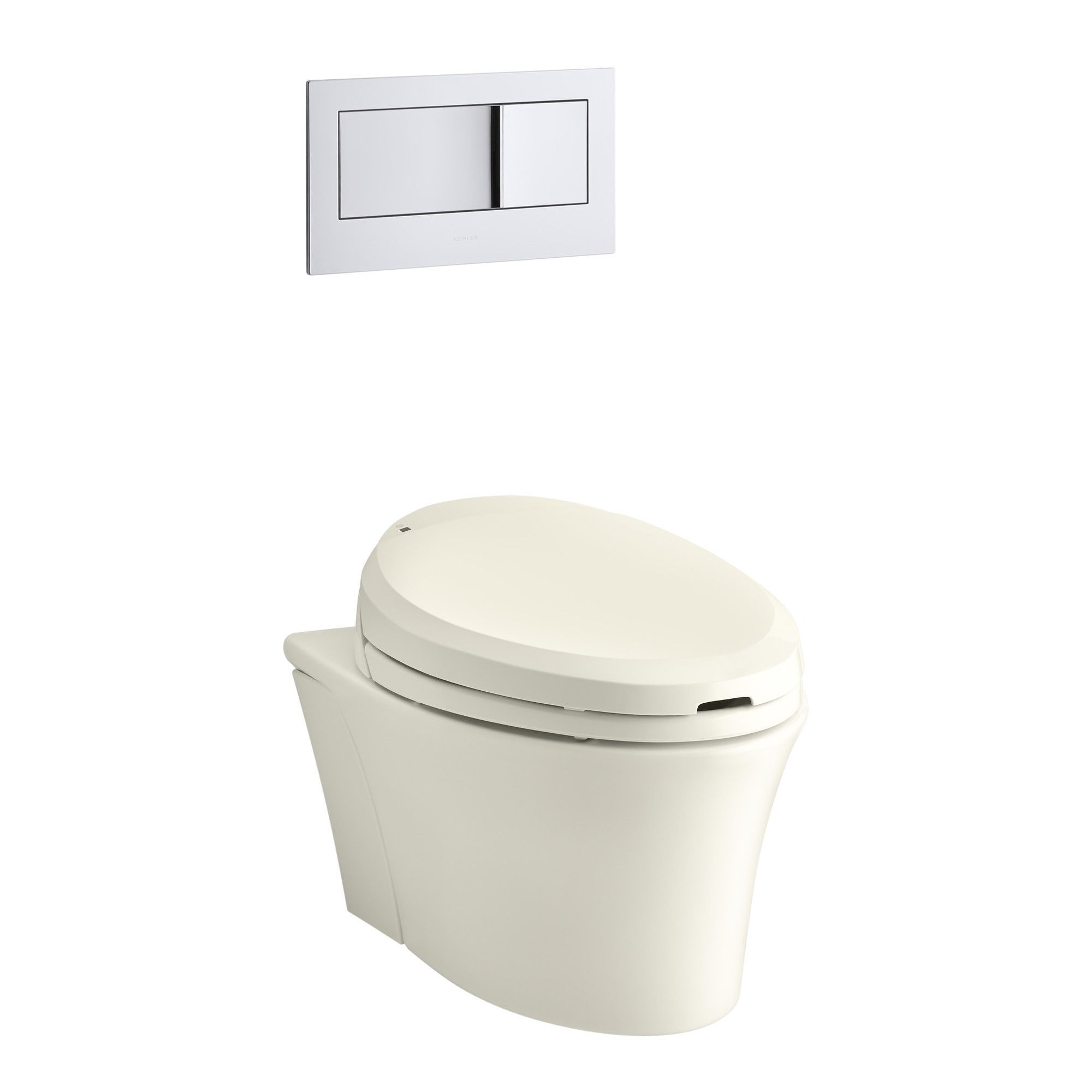 Veil One Piece Elongated Dual Flush Wall Hung Toilet With C3 Bidet