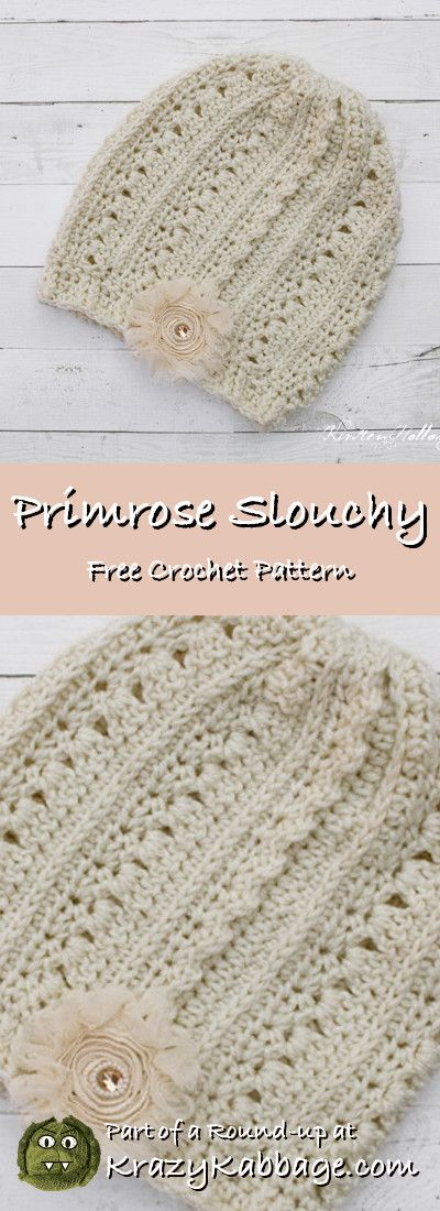 Slouch Hats Free Crochet Patterns - Krazy Kabbage #crochet #free ...