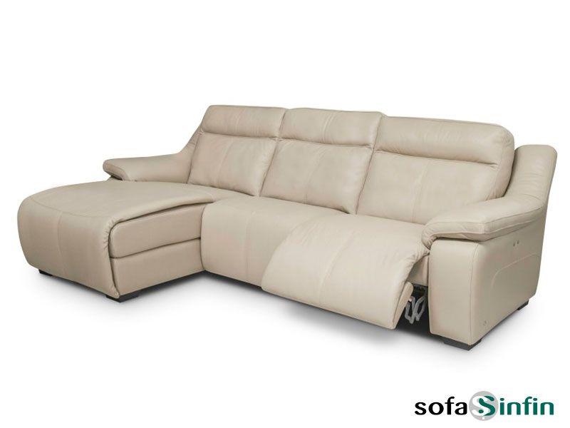 Sofá relax de 3 y 2 plazas con chaise longue modelo Abril