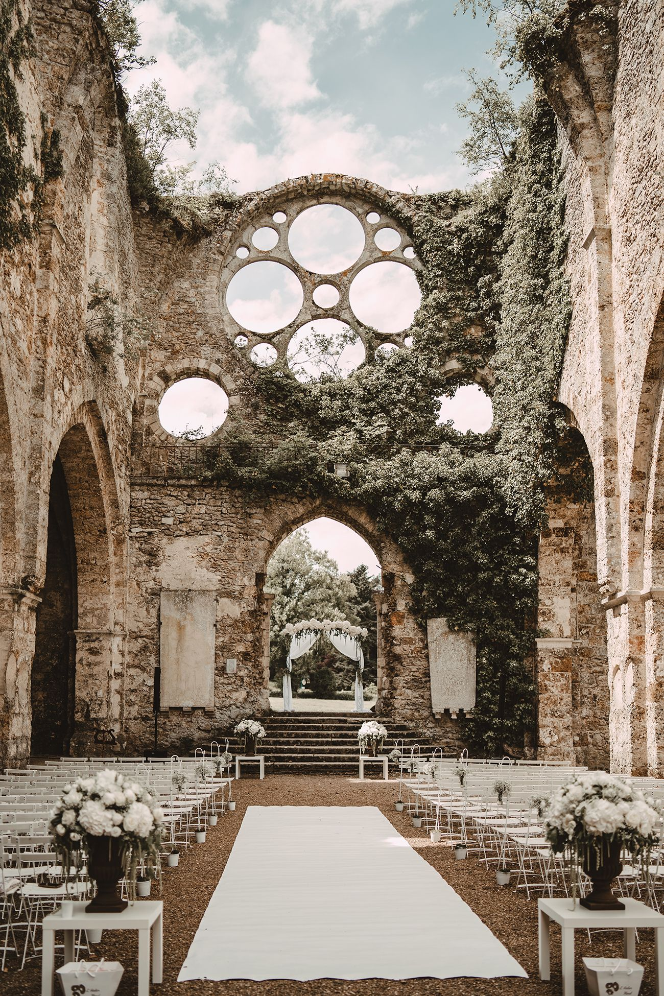 These Stunning Abandoned Buildings Will Make You Want to Have Your Wedding in Ruins  Green Wedding Shoes is part of Dream wedding venues - Some of these may be old abbeys, restored warehouses, fragments of castles left behind, there's even an abandoned train station, too! If you're a lover of old buildings and those that don't necessarily have major curb appeal, but rather delight with their worn stones and overgrown greenery, get ready! You're going to fall head over heels for these historical beauties