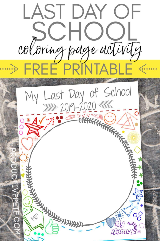 Free Printable Last Day Of School Portrait Worksheet Activity For Kids Last Day Of School First Day Of School Activities School Activities [ 1500 x 1000 Pixel ]