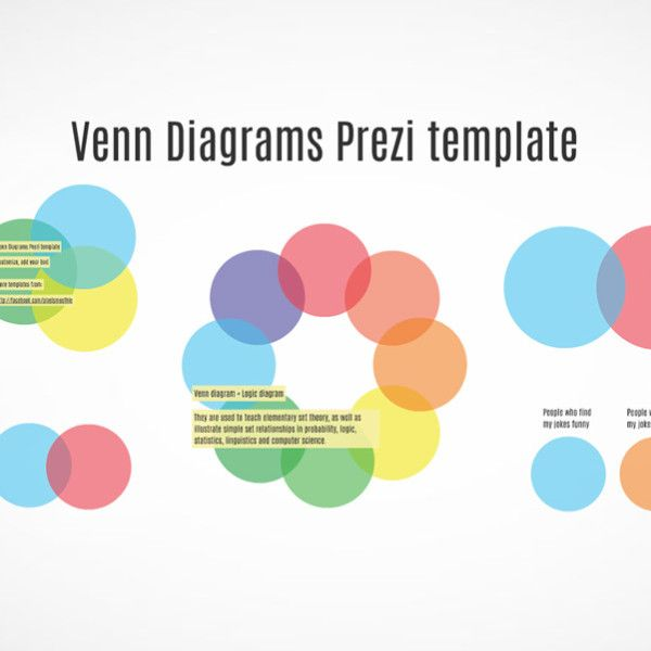 Venn Diagrams Infographics Prezi Template  Venn Diagrams Diagram