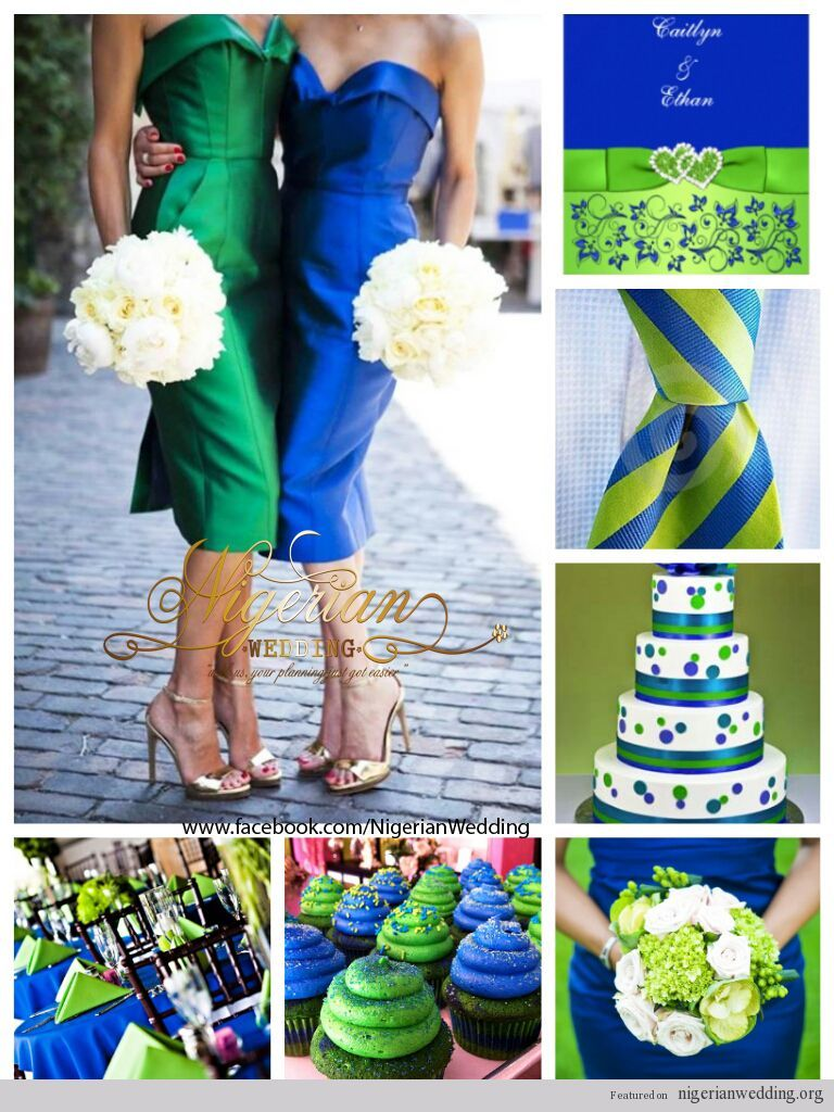 Navy Blue And Lime Green Party Theme Royal Blue And Lime Green