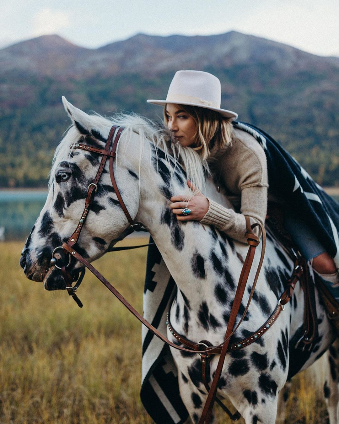"""Photo of Alaska Photographer on Instagram: """"So lucky to have this babe boss-lady, horse-mom as a friend. Double tap if you love mountains, horses, @pendletonwm, or boss babes. ✨"""""""