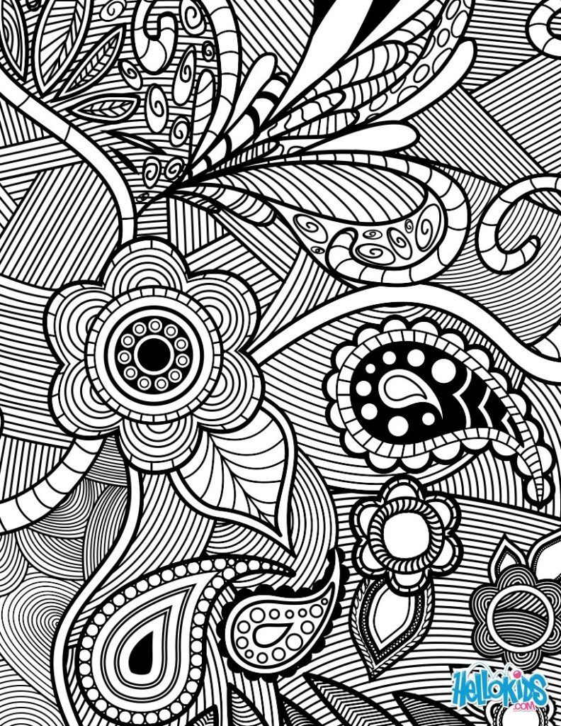 Coloring pages flowers - Coloring Pages Enchanting Flowers Coloring Pages For Adults Adult Coloring Pages Flowers Paisley Design Flowers Coloring Pages For Adults Butt