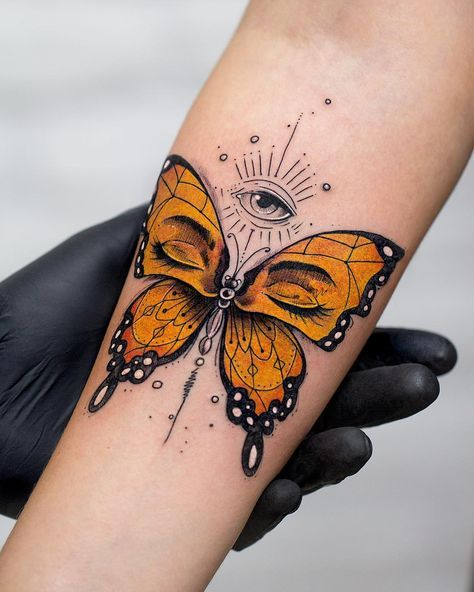 Butterfly Tattoo Meaning and Symbolism  The Wild Tattoo is part of Tattoo - Discover meaning and symbolism of butterfly tattoos for men and women