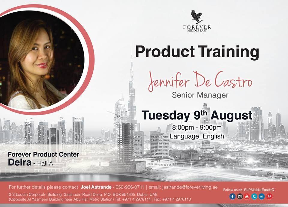 Product Training by Jennifer De Castro u00 Senior