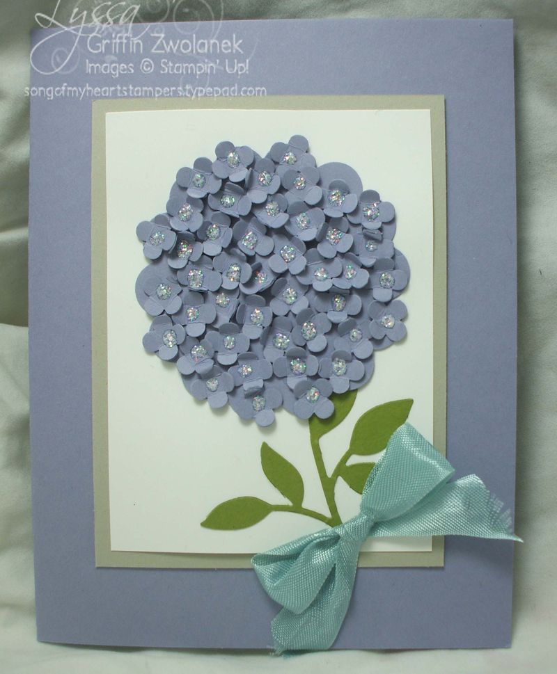 Exceptional Card Making Ideas Using Punches Part - 14: Astounding Punch Art Hydrangea - Little Punches From The Itty Bitty Punch  Pack Rumpled Up And Adhered Overlapping, And Then Each One Dotted With  Dazzlinu0027 ...