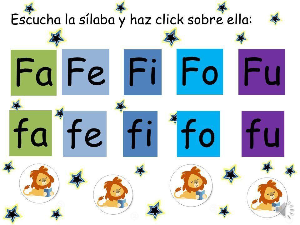 Silabas Com Fa Fe Fi Fo Fu Para As Aulas De Alfabetizacao Aulas