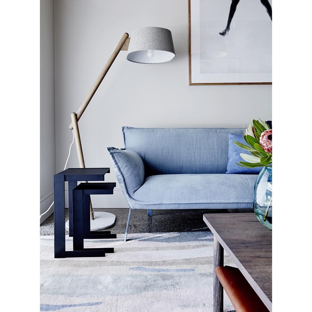 Dreaming Of Jardan This Hump Day Stunning Contemporary Australian Furniture And Homewares Photo By James Geer Light Blue Couches Blue Sofa Living Interior