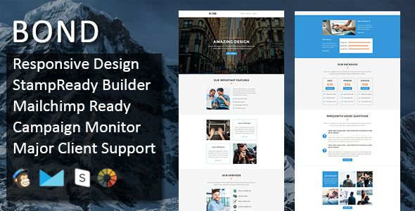awesome Bond - Multipurpose Responsive E-mail Template + Stampready Builder (E-mail Templates)