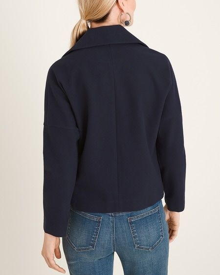 Chico's Women's Short Plush Knit Coat