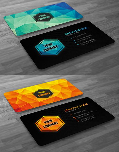 A Compilation Of Creative Low Poly Business Cards Naldz Graphics Graphic Design Business Card Art Business Cards Business Cards Creative