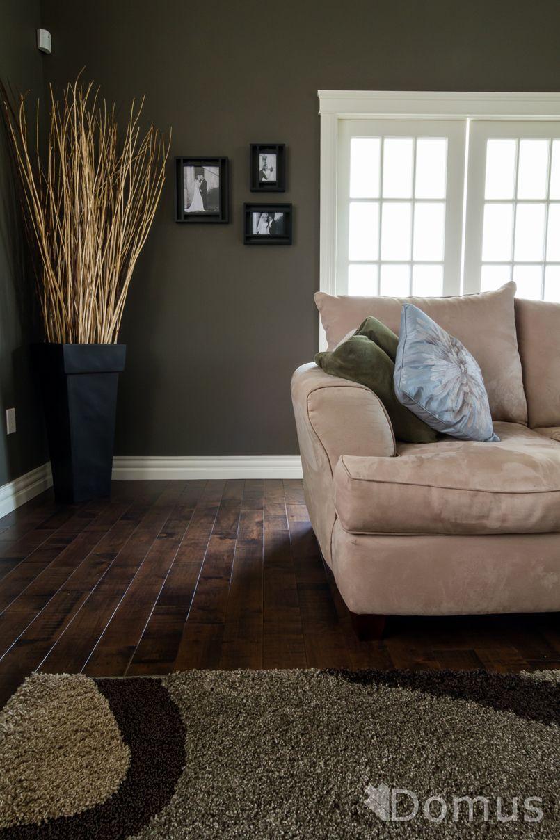 Dark hardwood floor in living room | Hardwood | Pinterest ...