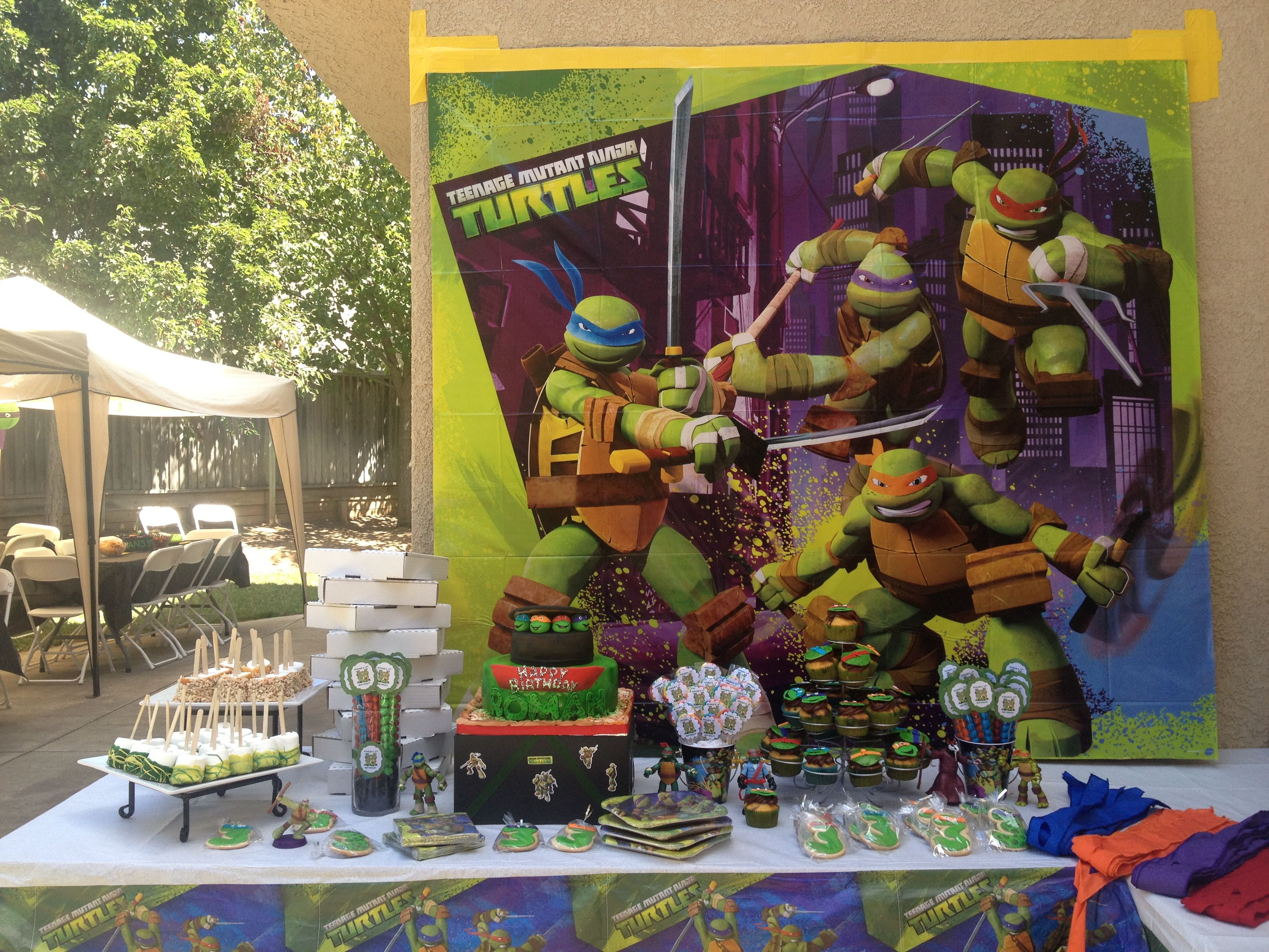 Tmnt Party My Cake Table Ninja Turtle Party Tmnt Party Ninja Turtle Birthday
